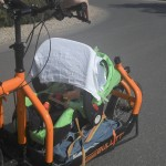 improvised baby transport